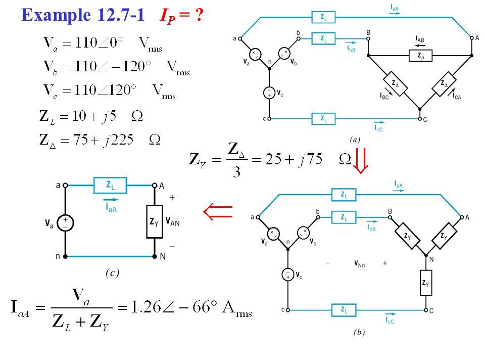 Example 12.7-1 I P = ?