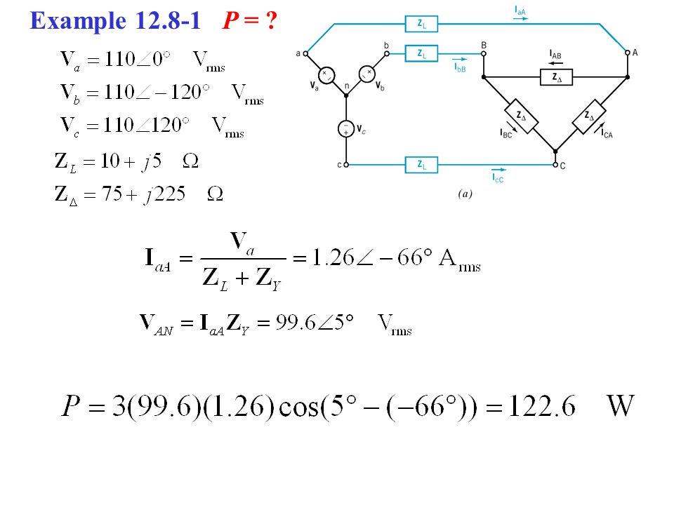Example 12.8-1 P = ?