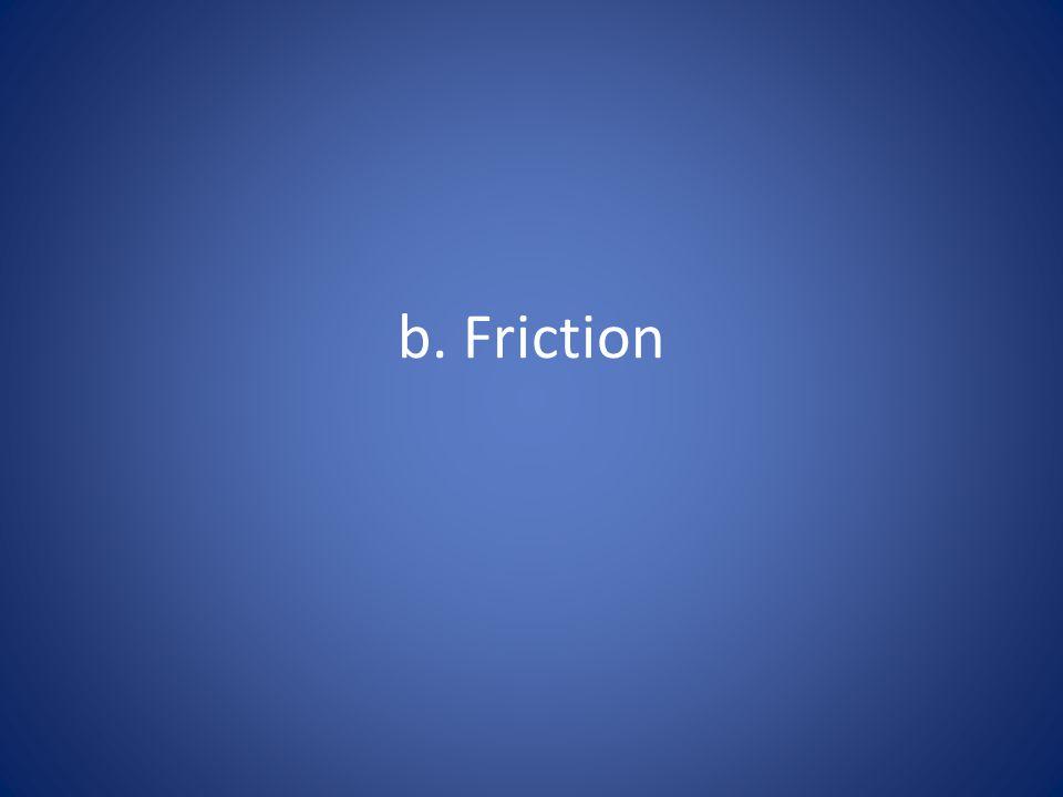 b. Friction