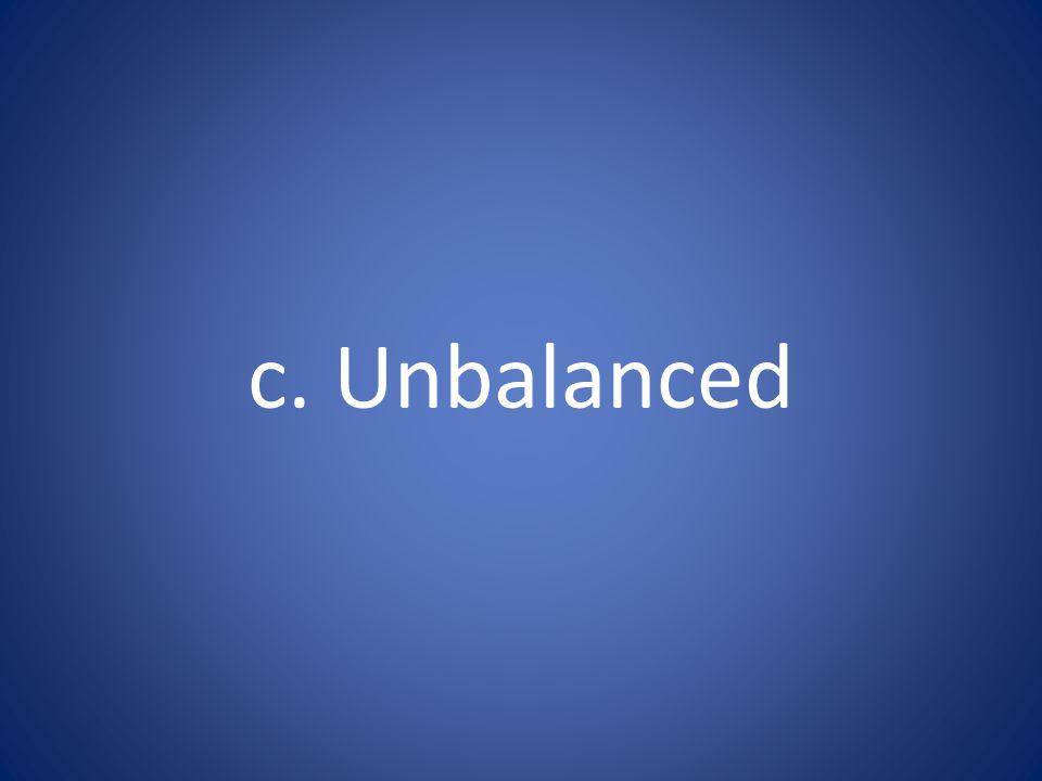 c. Unbalanced