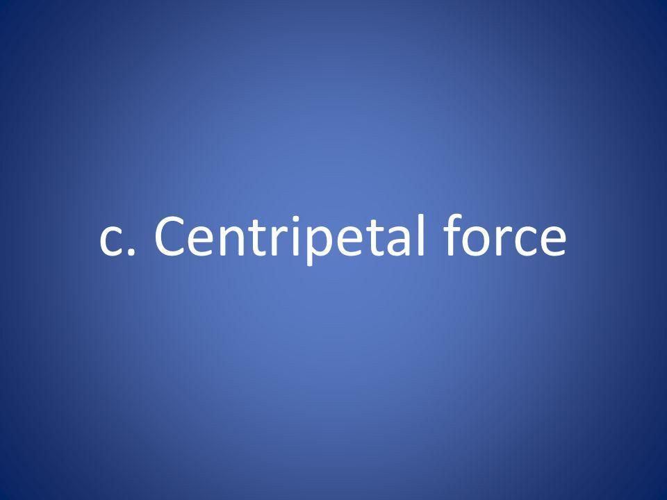 c. Centripetal force