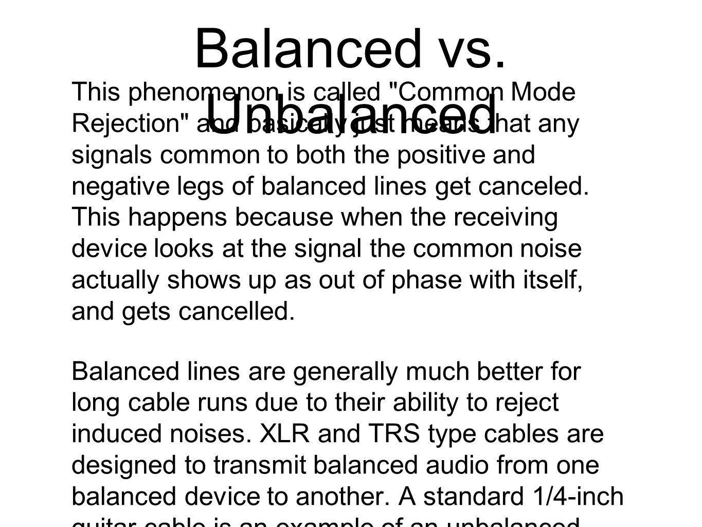 Balanced vs.