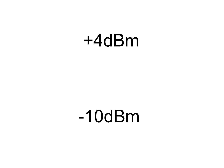 +4dBm -10dBm