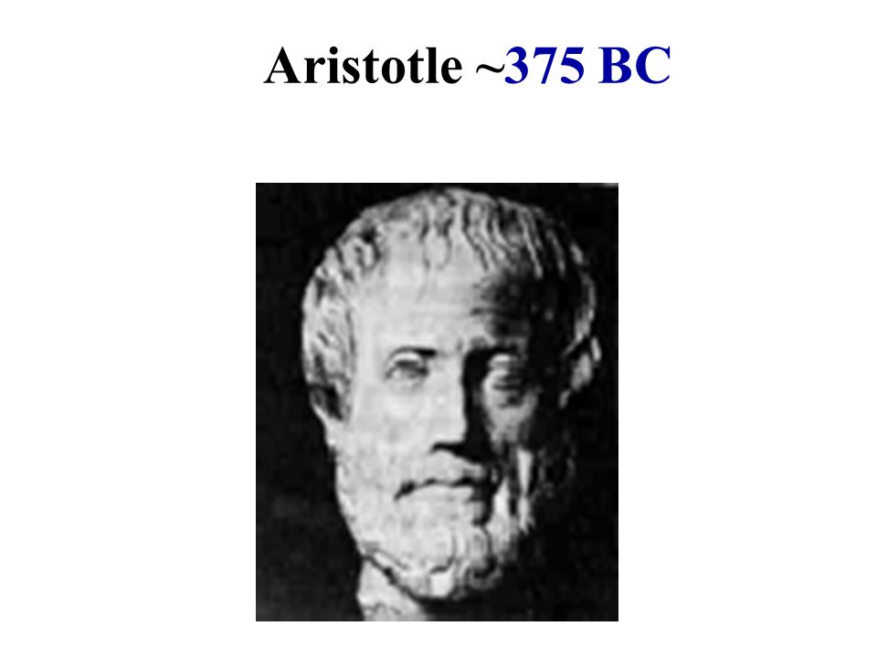 Aristotle ~375 BC