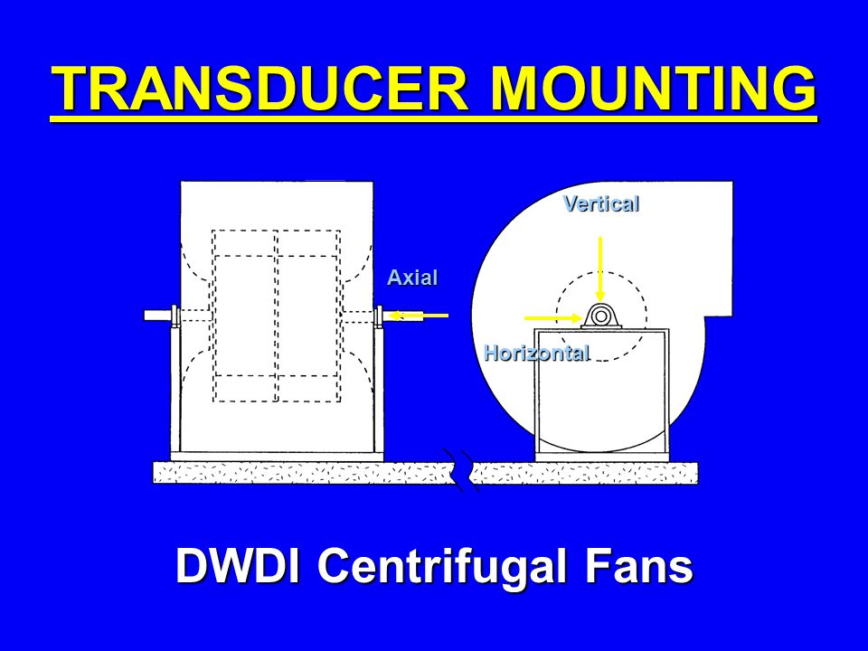 TRANSDUCER MOUNTING DWDI Centrifugal Fans Vertical Axial Horizontal