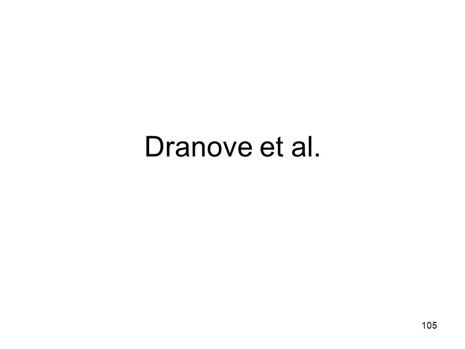 Dranove et al. 105