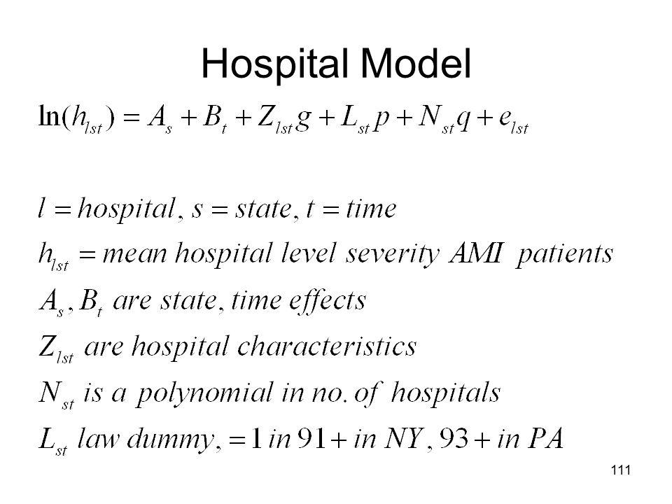 Hospital Model 111