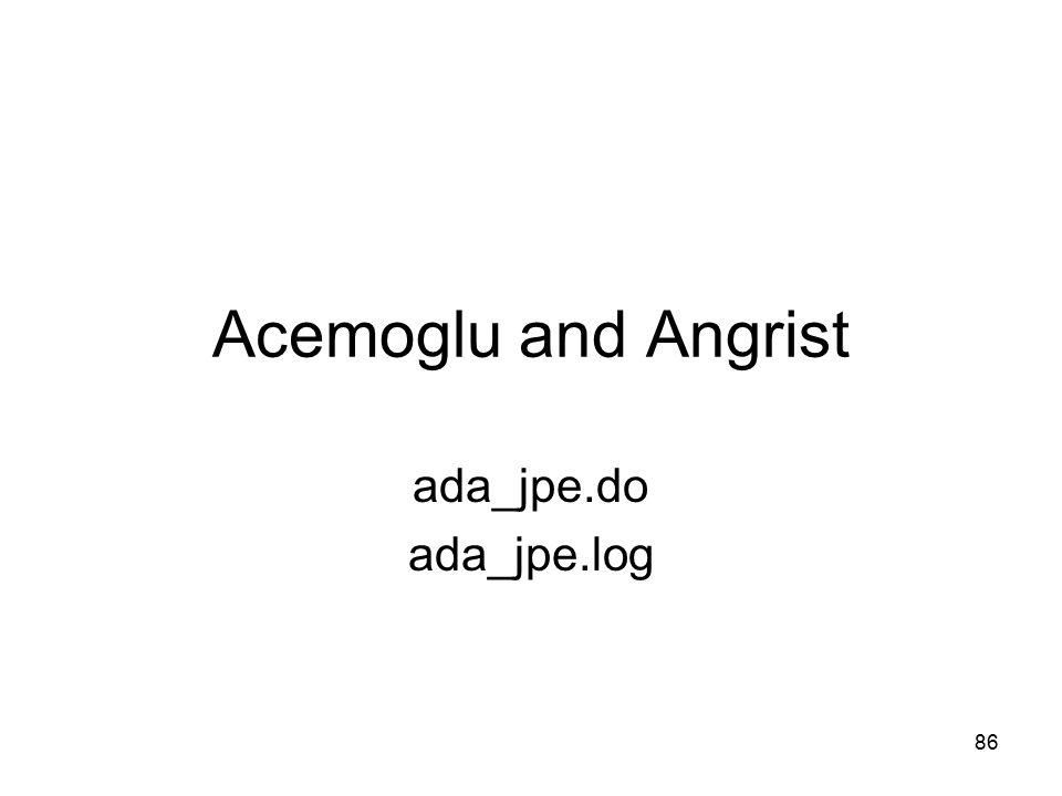 Acemoglu and Angrist ada_jpe.do ada_jpe.log 86