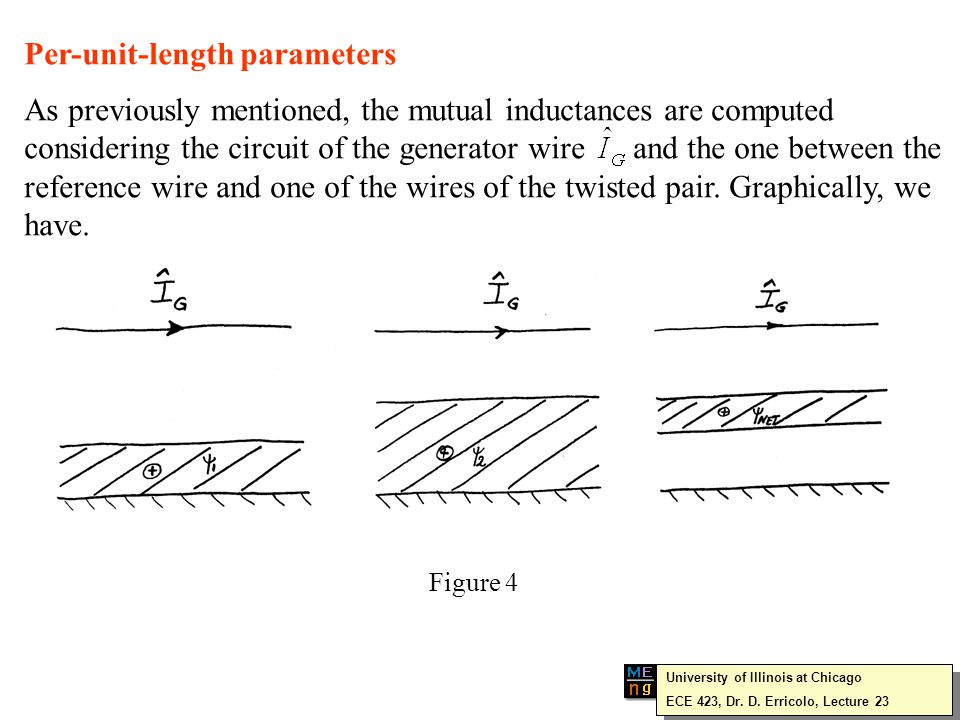 Conversely, when the terminations have large values of impedance so that capacitive coupling is the dominant contribution twisting the wires does not reduce the cross-talk since the capacitive coupling is not affected by this operation.