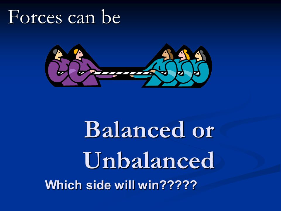 Balanced or Unbalanced Forces can be Which side will win?????