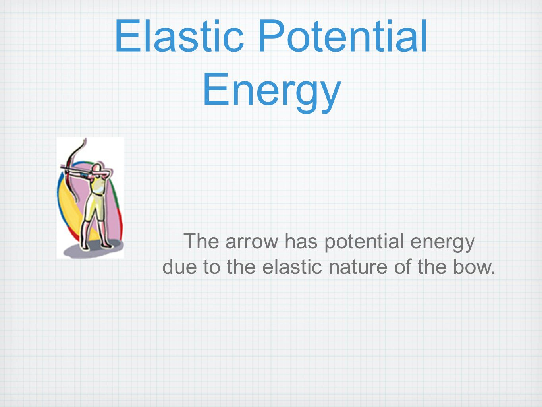 Elastic Potential Energy The arrow has potential energy due to the elastic nature of the bow.