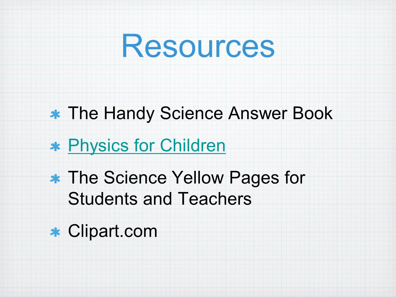 Resources The Handy Science Answer Book Physics for Children The Science Yellow Pages for Students and Teachers Clipart.com
