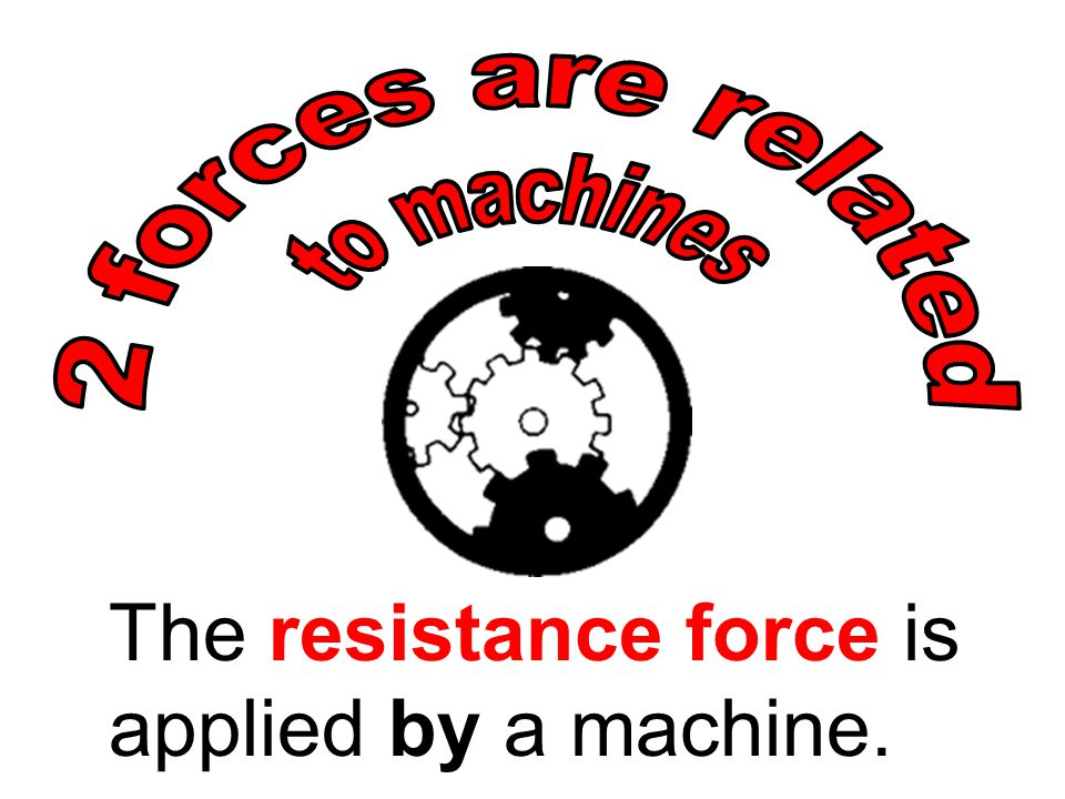 The resistance force is applied by a machine.