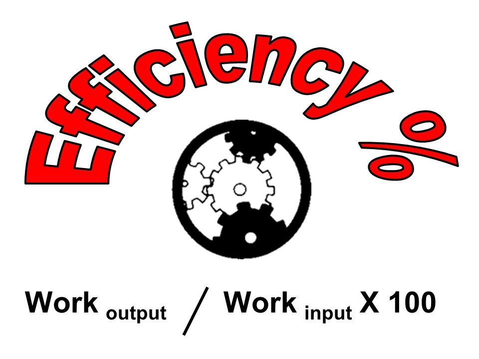 Work output Work input X 100