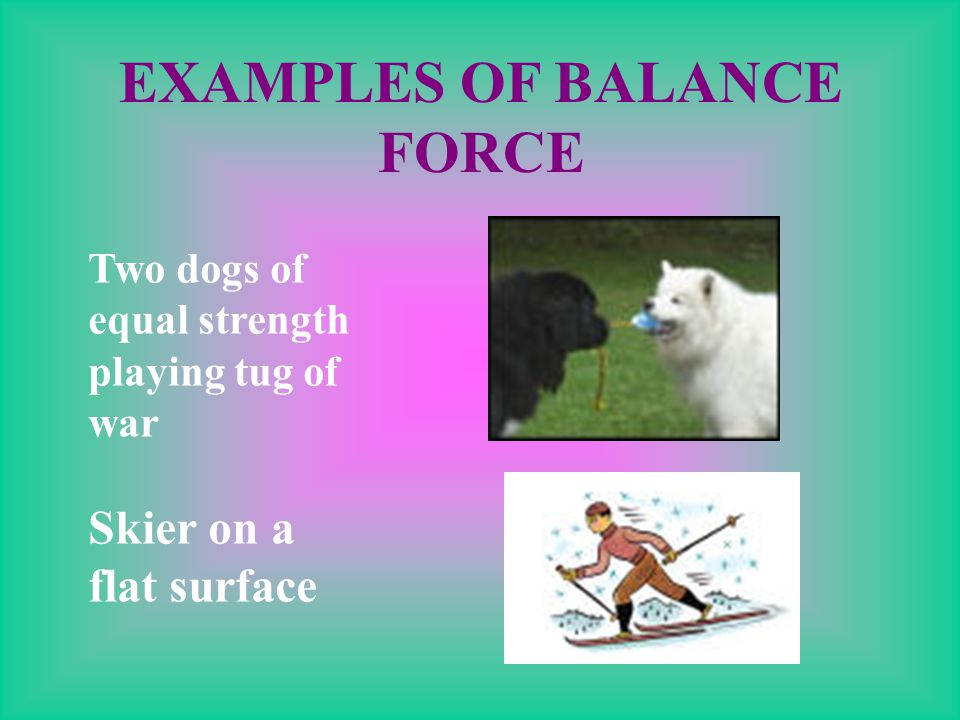 WHAT IS A BALANCED FORCE? Balanced Forces cause no motion. The paired forces occur in opposite directions and are of equal force.