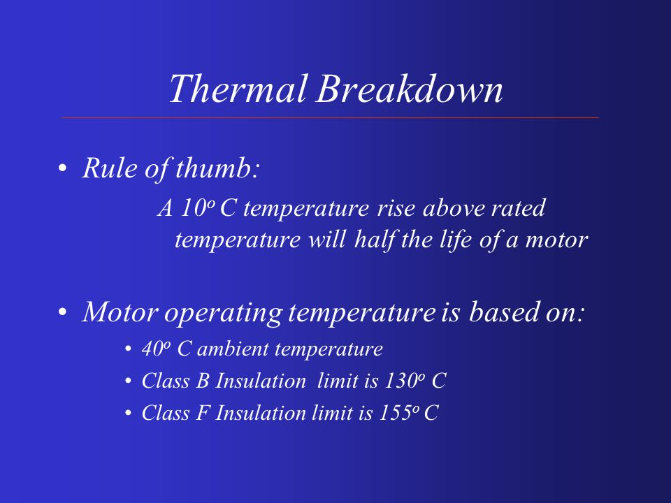 Motor Windings Breakdown Thermal Mechanical Environmental