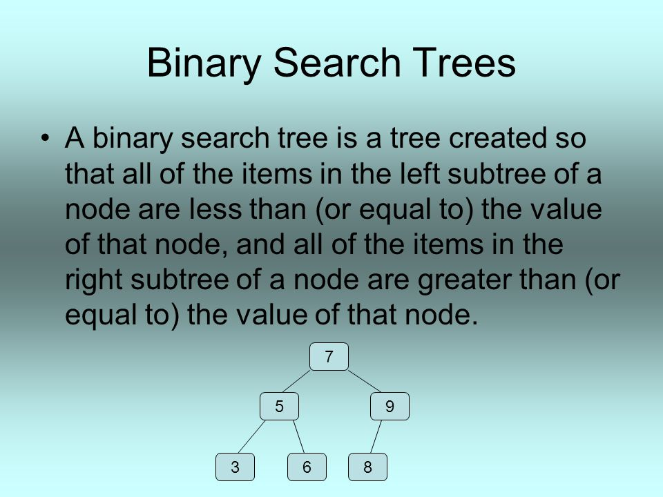 AVL trees An AVL tree is a special type of binary search tree.
