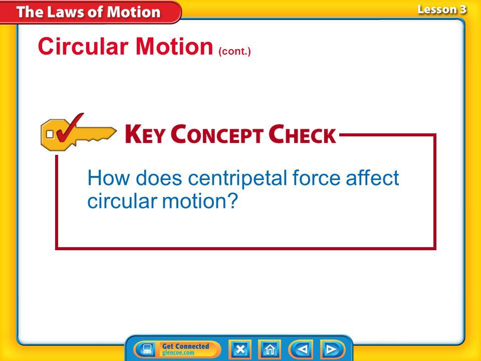 Lesson 3-3 Circular Motion (cont.)