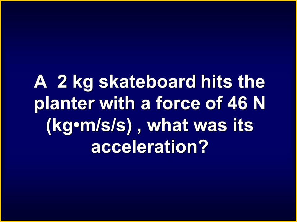 45 kg ● m/s/s 45 N