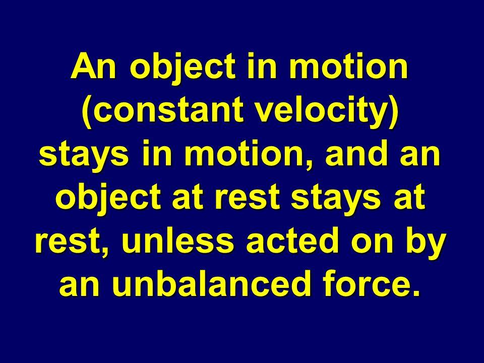 Define Newton's 1 st Law