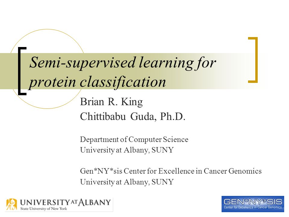1 Semi-supervised learning for protein classification Brian R.