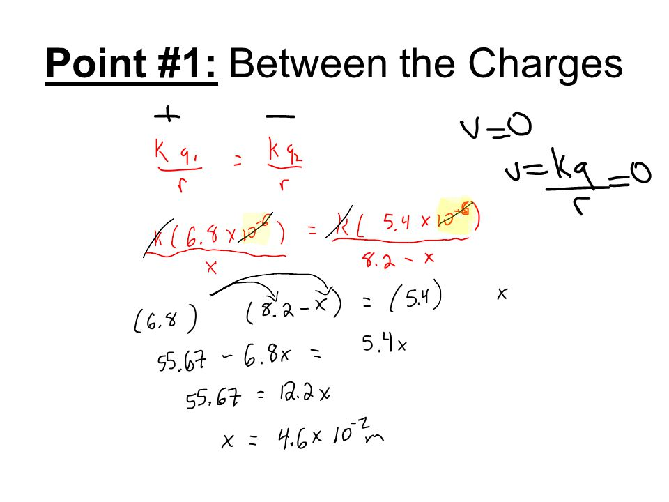 Point #1: Between the Charges