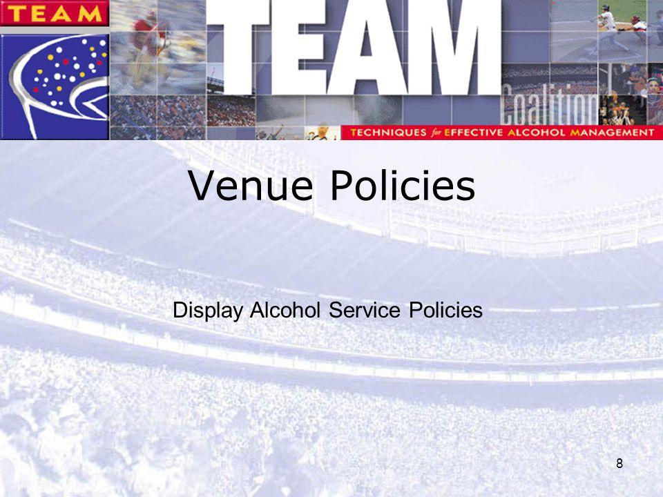 8 Venue Policies Display Alcohol Service Policies