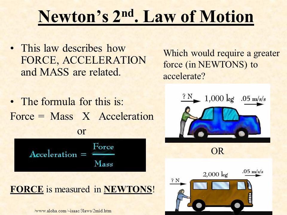 Newton's 1 st.