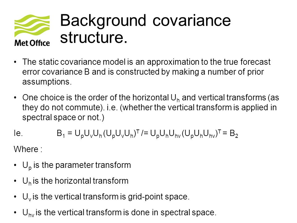 Background covariance structure.
