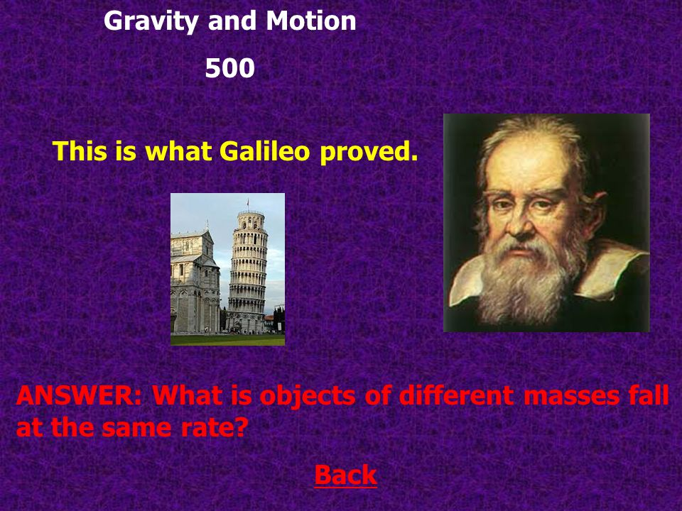 Back ANSWER: What is terminal velocity.