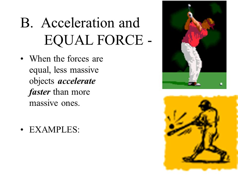 SECOND LAW (ACCELERATION) - A.