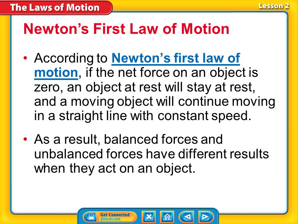 Lesson 2-1 Balanced forces are forces that combine and form a net force of zero.Balanced forces Forces that combine and form a net force that is not z