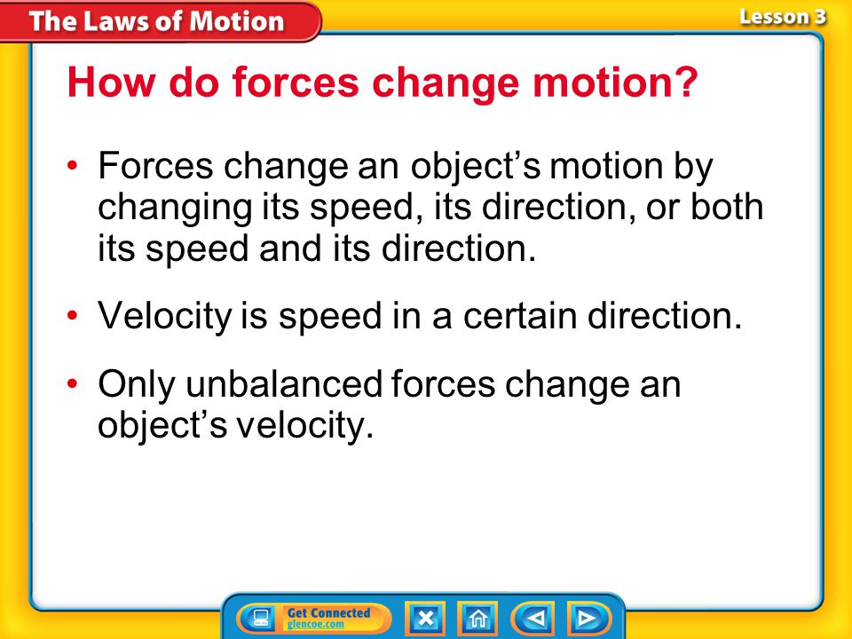 Lesson 3 Reading Guide - Vocab Newton's second law of motion circular motion centripetal force Newton's Second Law