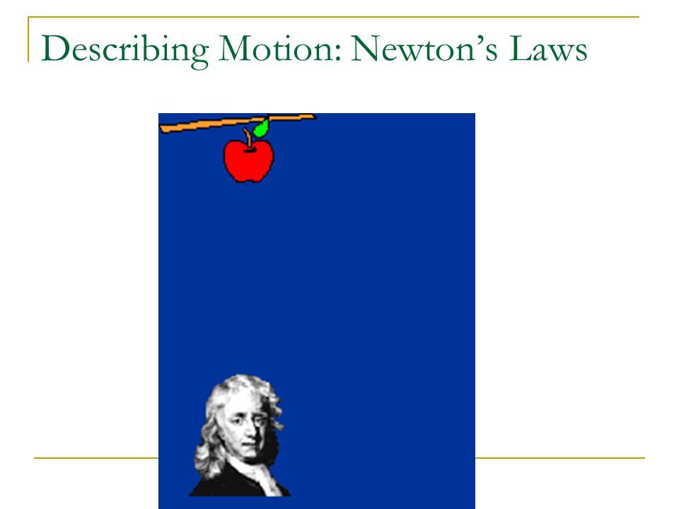 Describing Motion: Newton's Laws