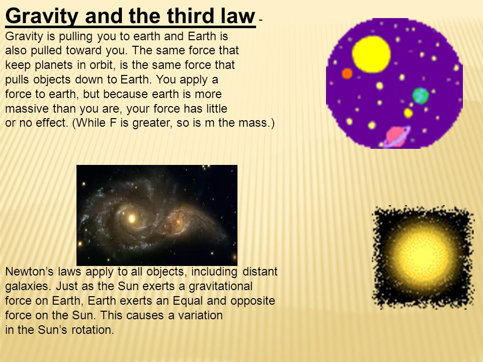 Gravity and the third law - Gravity is pulling you to earth and Earth is also pulled toward you.