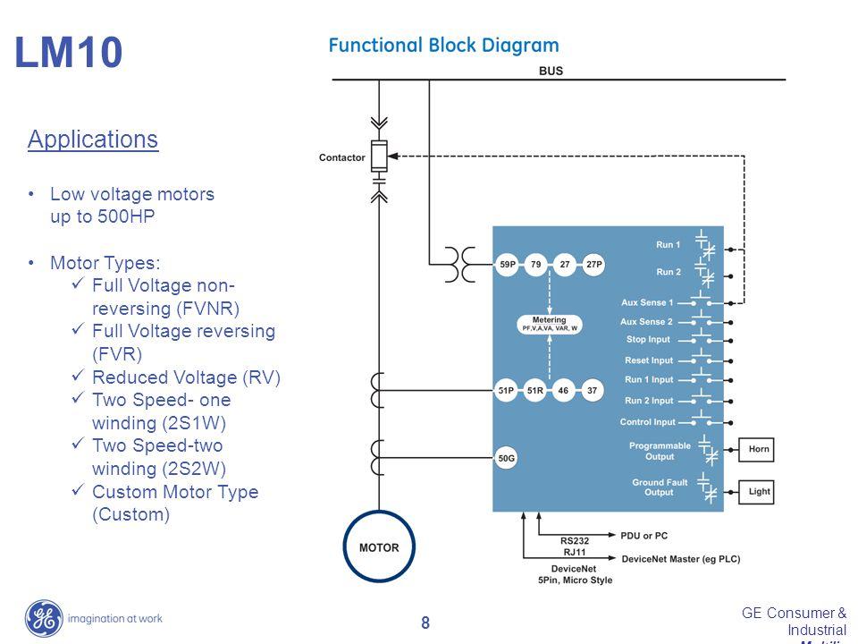 9 GE Consumer & Industrial Multilin LM10