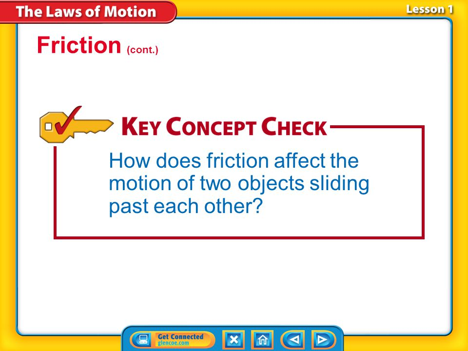 Lesson 1-3 What causes friction between surfaces.