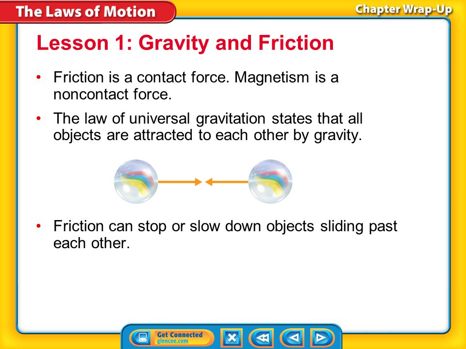 The BIG Idea An object's motion changes if a net force acts on the object.