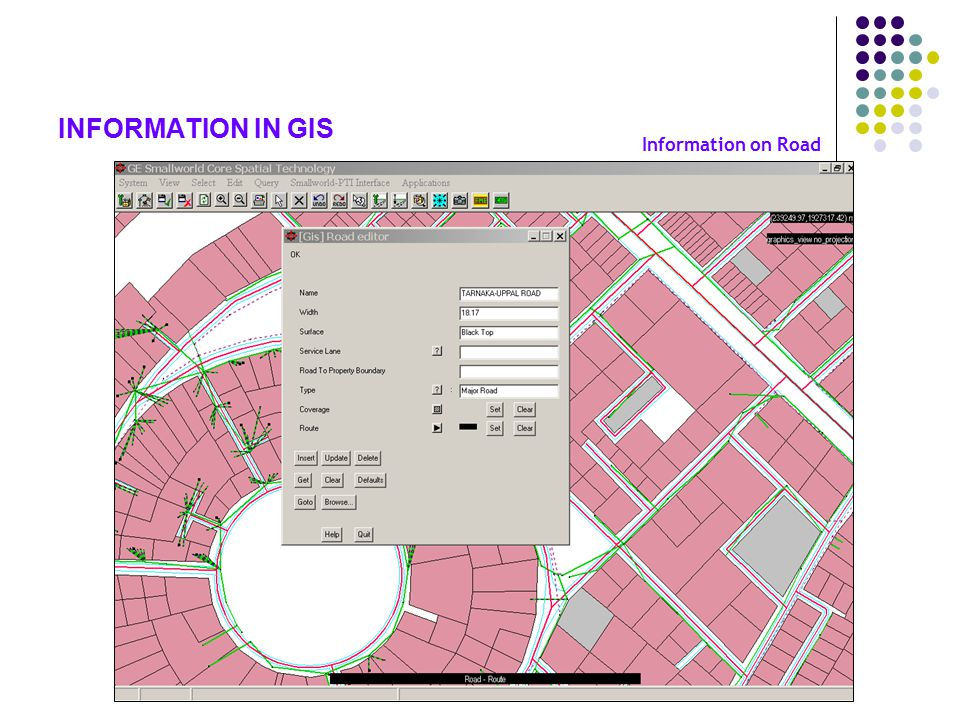 INFORMATION IN GIS Information on Road