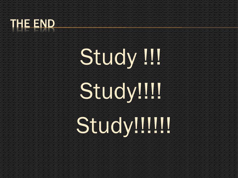 Study !!! Study!!!! Study!!!!!!
