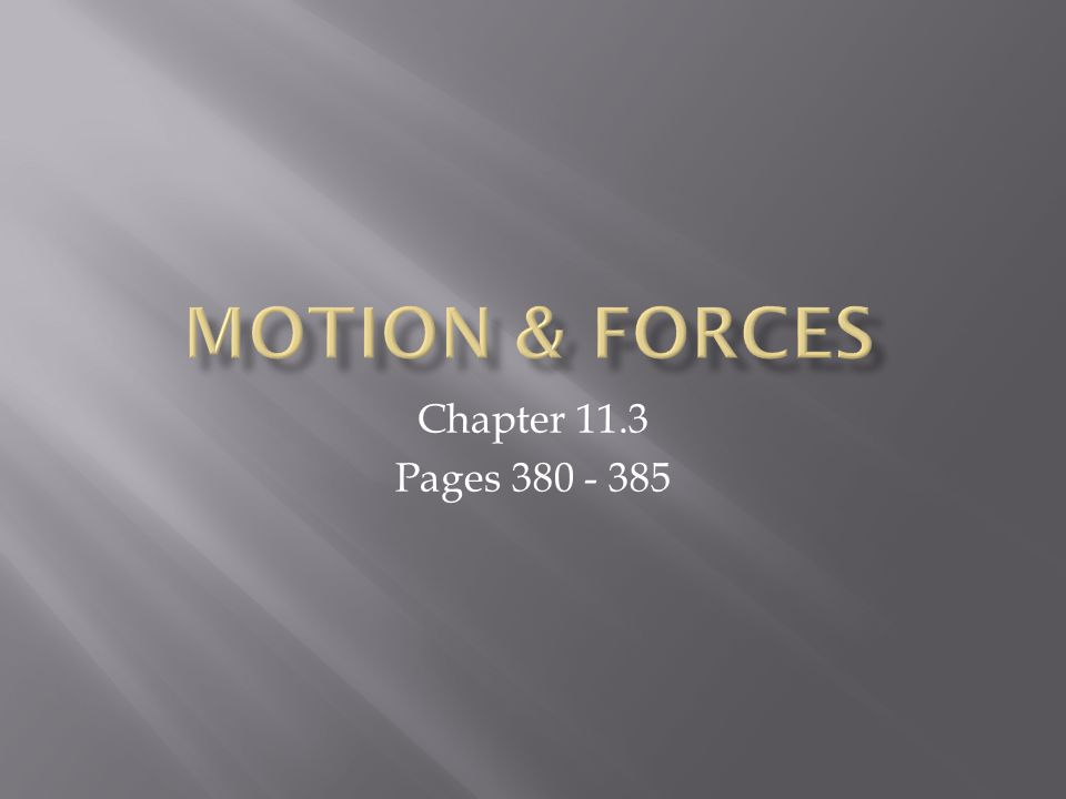 Chapter 11.3 Pages 380 - 385