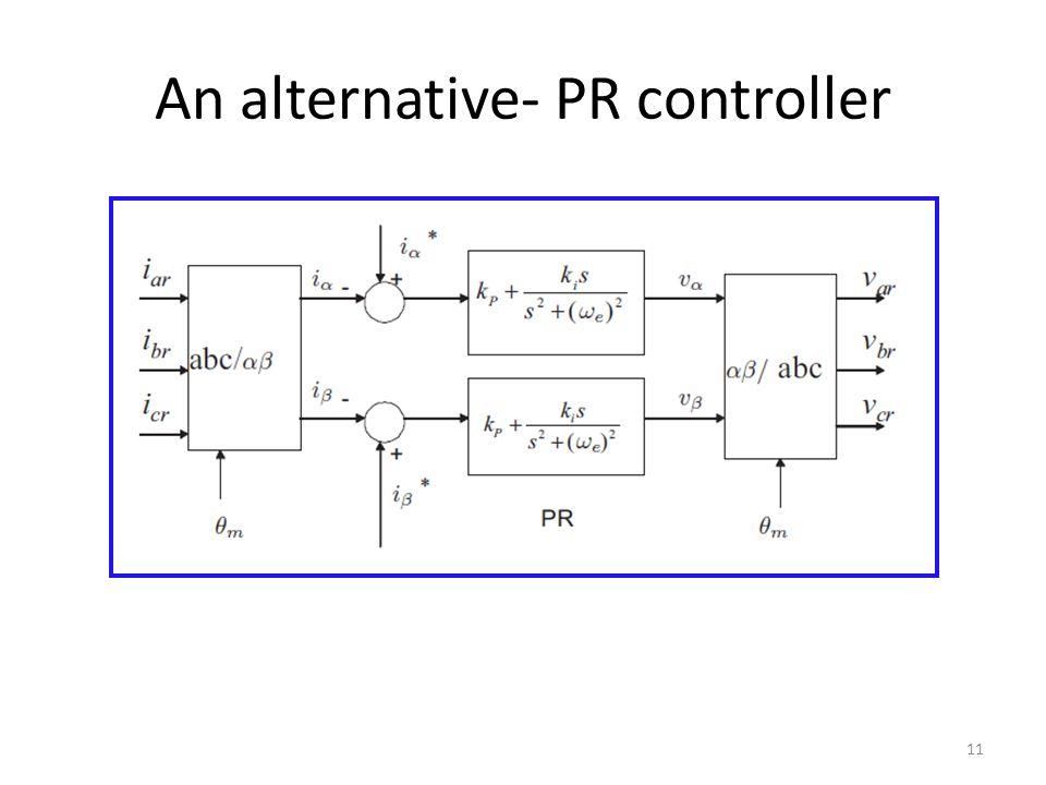 An alternative- PR controller 11