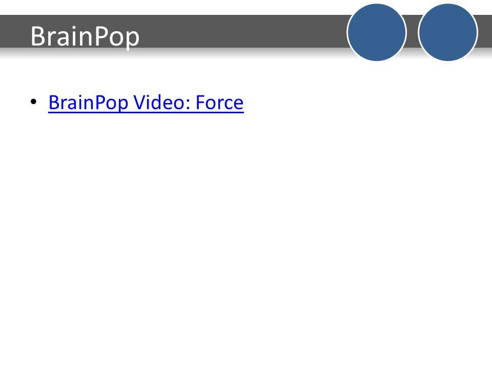 BrainPop BrainPop Video: Force