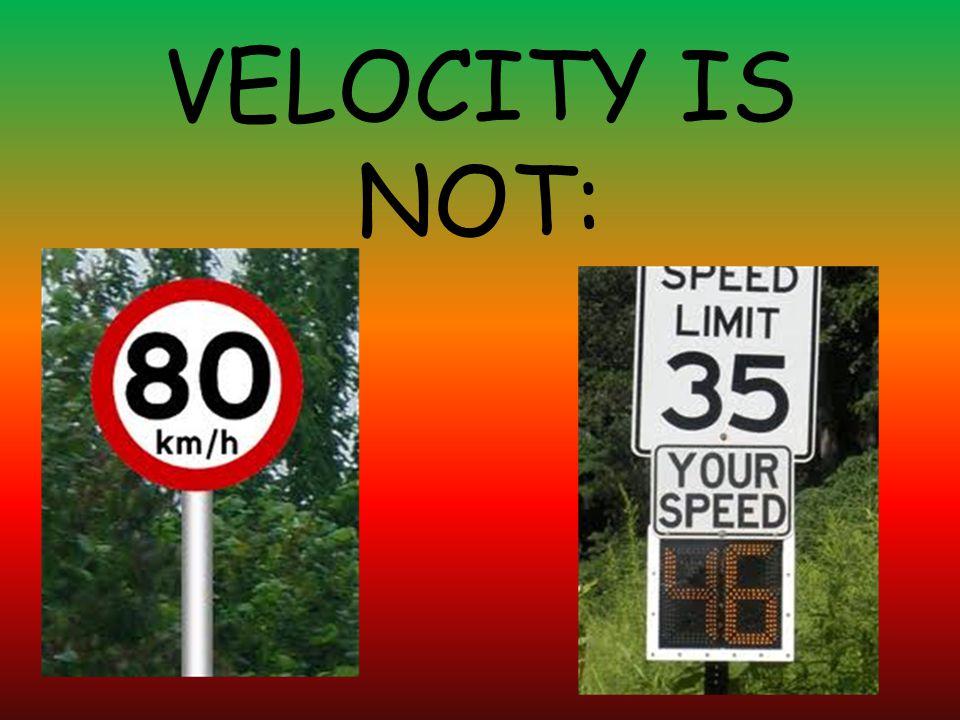 VELOCITY IS NOT: