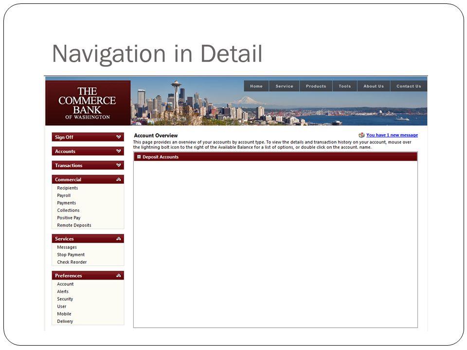 Navigation in Detail