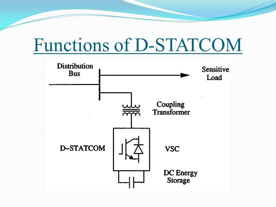 Functions of D-STATCOM
