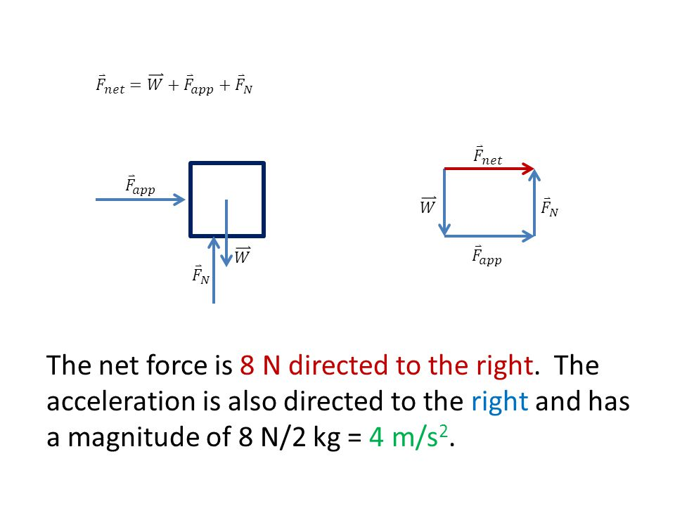 The net force is 8 N directed to the right.