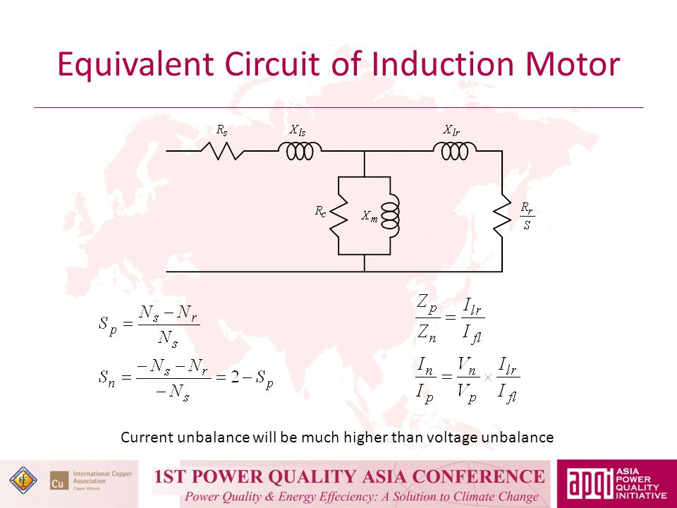 Equivalent Circuit of Induction Motor Current unbalance will be much higher than voltage unbalance