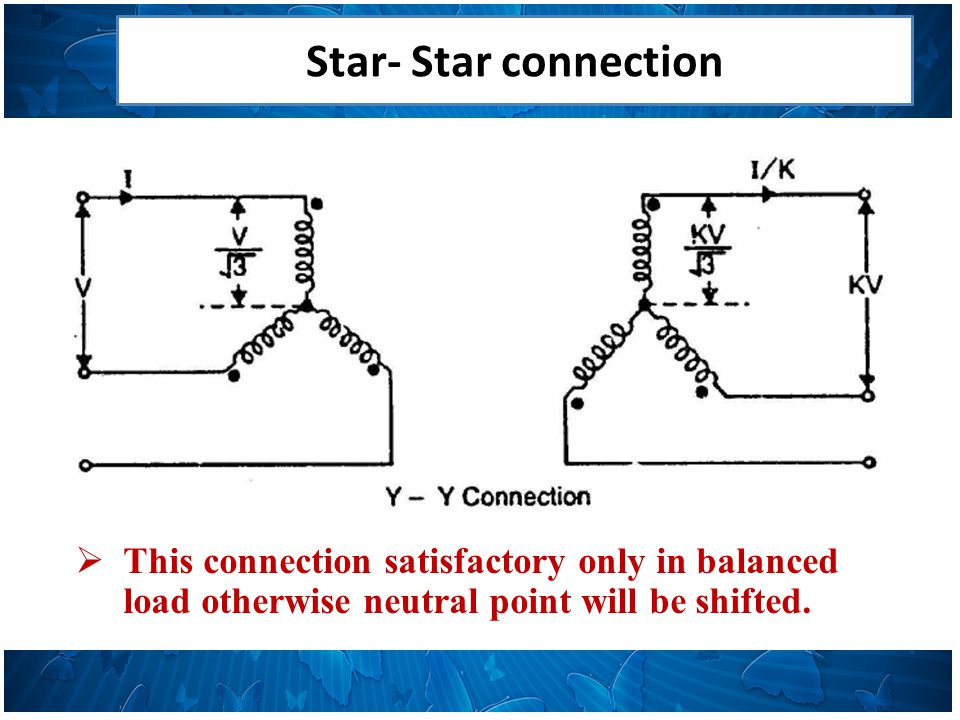Star- Star connection Advantages 1.Requires less turns per winding i.e.