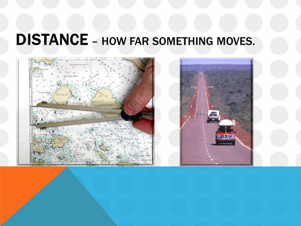DISTANCE – HOW FAR SOMETHING MOVES.